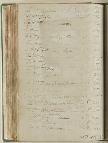 Notes : suite de la liste des travaux d'Augustin avec leur prix
