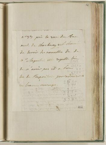 Petit feuillet avec fragment d'une annotation manuscrite