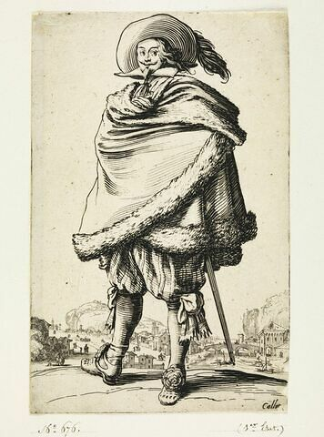 La Noblesse : Le gentilhomme enroulé dans sa cape