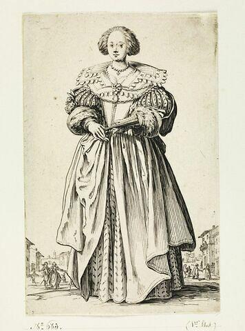 La Noblesse : La dame à l'éventail
