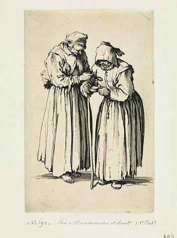 Les Gueux ou Mendiants : Les mendiantes debout