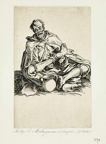 Les Gueux ou Mendiants : Le Malingreux accroupi