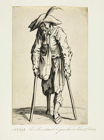 Les Gueux ou Mendiants : Le mendiant à jambe de bois