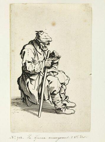 Les Gueux ou Mendiants : Le Gueux mangeant