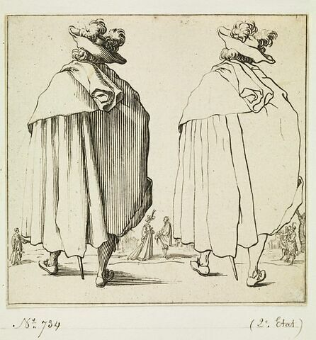 Varie Figure : Homme au grand manteau vu de dos