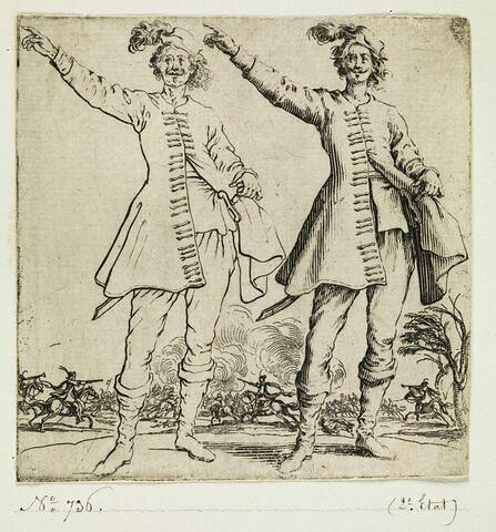 Varie Figure : Le Turc vu de face, levant le bras droit