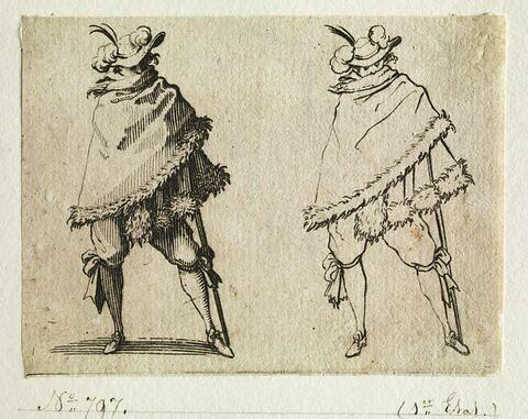 Les Caprices : L'homme enroulé dans son manteau