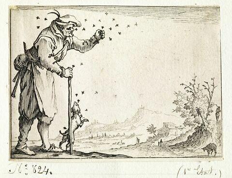 Les Caprices : Le paysan assailli par les abeilles