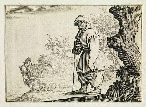 Les Caprices :  Le paysan portant son sac