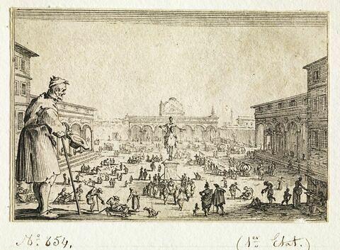 Les Caprices : Le marché sur la place de l'Annunziata à Florence
