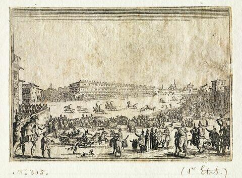 Les Caprices : La course de chevaux sur la place Pitti à Florence