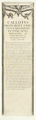 Le siège de la Rochelle : Bordure latérale: texte en latin