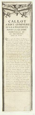 Le siège de la Rochelle : Bordure latérale : texte en français