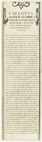 Siège de Saint-Martin de Ré. Bordure latérale (texte en latin)
