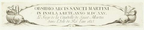 Siège de Saint-Martin de Ré. Planche accessoire