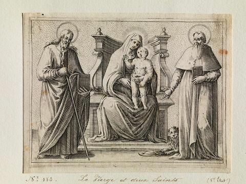 La Vierge à l'Enfant entre Saint Jacques le Majeur et Saint Jérôme