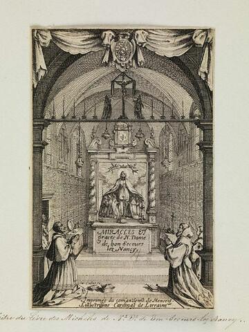 Titre du Livre des Miracles de Notre Dame de Bon-Secours-les-Nancy