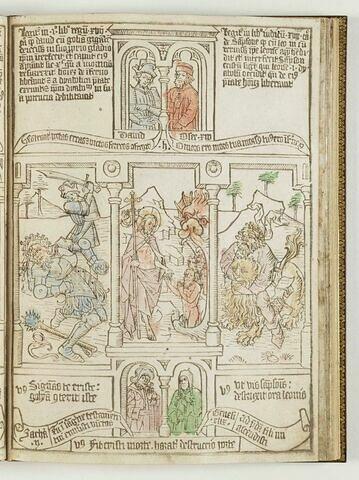La Bible des Pauvres. David renversant Goliath; Le Christ aux limbes; Samson vainqueur du lion