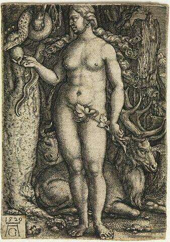 Eve avec un cerf