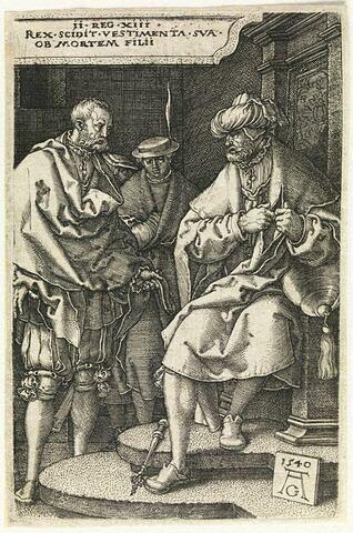 David déchire ses vêtements à la nouvelle de la mort de son fils