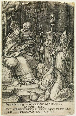 La Mort ôtant la thiare à un Pape