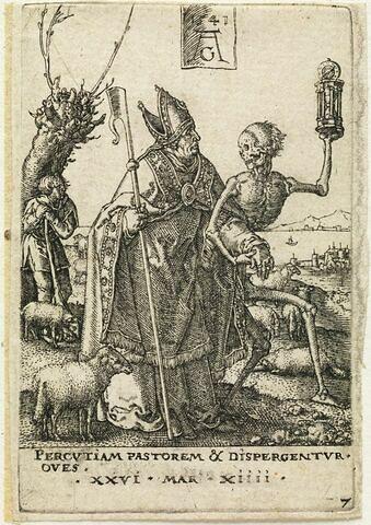 La Mort enlevant un évêque
