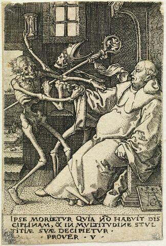 La Mort se saisissant d'un abbé