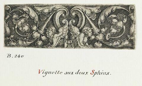 Vignette aux deux sphinx