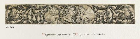 Vignette au buste d'empereur romain
