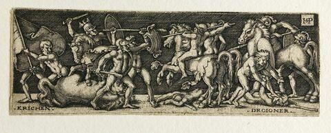 Combat entre Grecs et Troyens