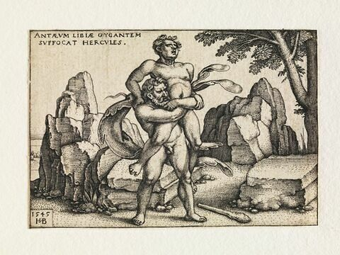 Hercule combattant Antée