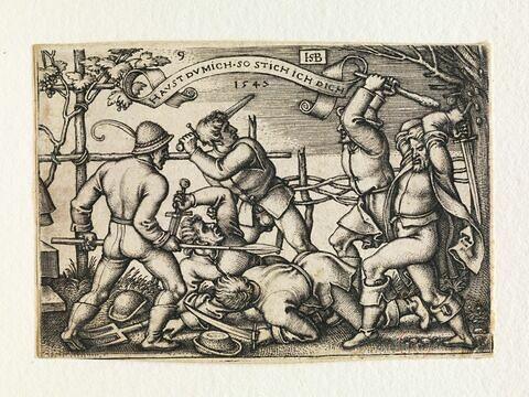 Combat entre villageois