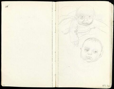 Deux études de bébé