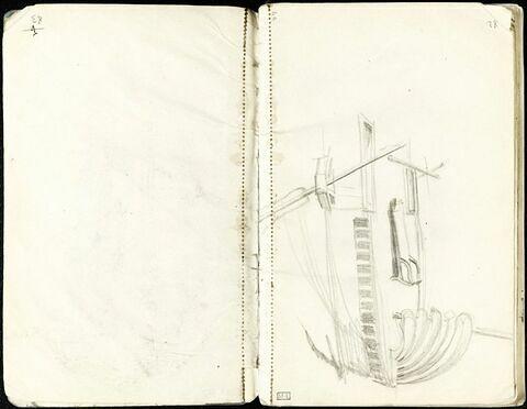 Etude de bateau (détail)