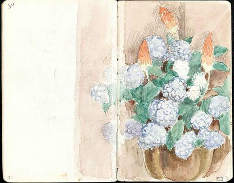 Bouquet de fleurs avec hortensias
