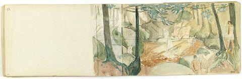 Figures dans une forêt