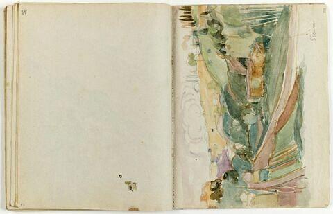 Tâche d'aquarelle du folio 22 recto
