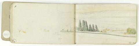 Paysage (débord du folio 14 recto)