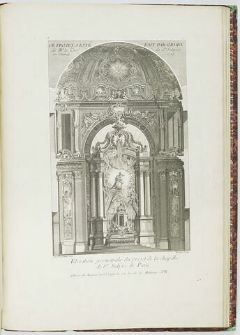 Elévation du projet de chapelle à Saint Sulpice de Paris (planche 101, série R)