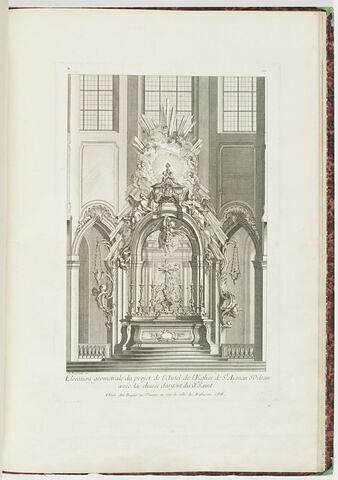 Elévation du projet d'autel à l'église de Saint Aignan d'Orléans (planche 102, série R)