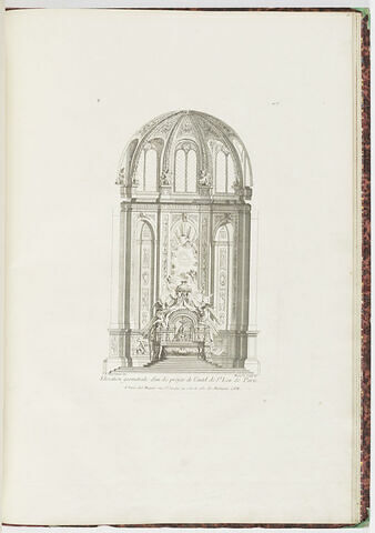 Elévation de projet d'autel à Saint Leu de Paris (planche 103, série R)