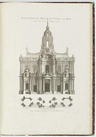 Projet du portail de l'Eglise de Saint Sulpice de Paris (planche 105, série R)