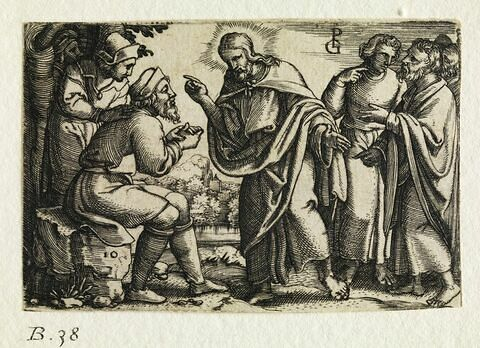 Jésus guérissant un aveugle