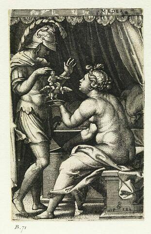 Médée remet à Jason ses dieux pénates