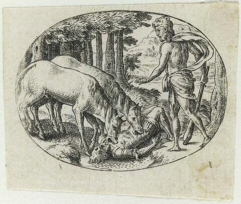 Hercule faisant manger Diomède par ses propres chevaux