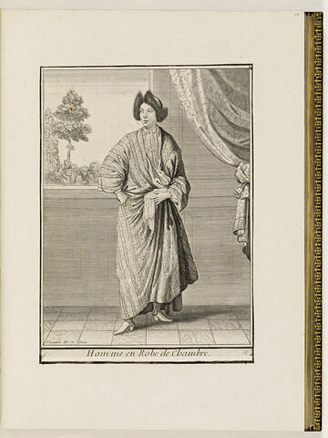 Homme en Robe de Chambre.