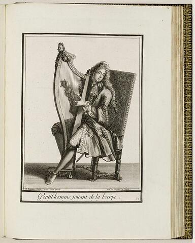 Gentilhomme jouant de la harpe