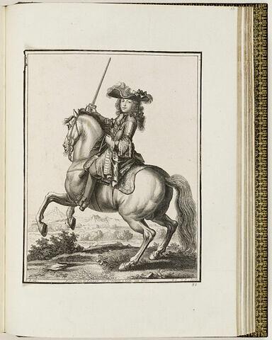 Un jeune homme à cheval
