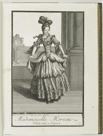 Mademoiselle Moreau dansant à l'Opéra