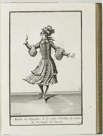 Habit des Nympes de la suite d'Orithie du ballet du Triomphe de l'Amour